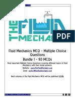 Fluid Mechanics MCQ - Bundle 1 - Sample