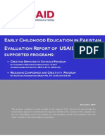 Early Childhood Edcation in Pakistan