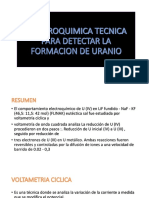 Electroquimica Tecnica Para Detectar La Formacion de Uranio