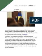 MEMORANDUM Transmis Presedintelui Iohannis, De ROMÂNII Din Covasna