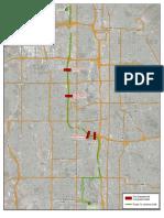 A map of the procession route for Chief Matt Burchett