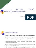 Derecho Procesal II, Unidad III, Los Incidentes.- (2)
