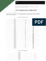 Caracteres Raros Con ALT_ Códigos ASCII