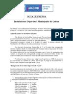 Nota Prensa Instalaciones Deportivas[1]