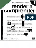 Libro Aprender a Comprender, Primera Parte
