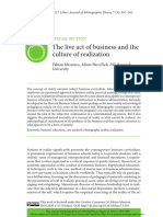 The live act of business and the culture of realization