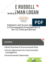 Indemnity and Access Agreements in Environmental Investigations in the Oil Field and Beyond
