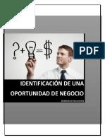 Identificación de Una Oportunidad de Negocio