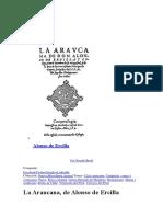 ANALISIS La Araucana, De Alonso de Ercilla