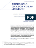 Comunicação Ecológica por Niklas Luhmann