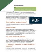 Información General. Coaching