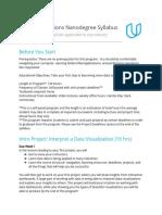 Syllabus-DataFoundationsNanodegree