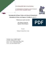 Determinacion de Puntos Criticos en La Linea de Produccion de Mermeladas de Frutas CORREGIDO