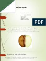 El Oxido en Las Frutas