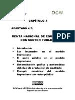 4.2. Renta Nacional de Equilibrio Con Sector Publico
