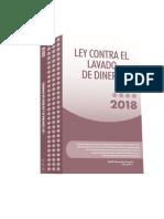 Libro Ley Contra Lavado de Dinero 2018