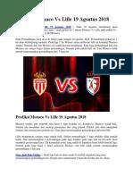 Prediksi Monaco vs Lille 19 Agsutus 2018
