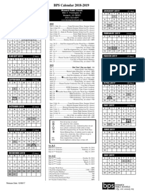 Bps Calendar 2022.2018 19 Final Bps Calendar Academic Term Public Holiday