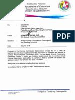 Division Memorandum No. 75,s.2018
