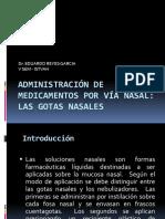 Administración de Medicamentos Por Vía Nasal