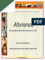 1. Aforismos. Sacristan Luzón, Manuel. Colecc. Emancipación obrera. Febrero 8 de 2007.doc