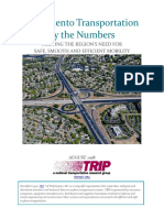 CA Sacramento Transportation by the Numbers TRIP Report Aug 2018