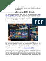 Proses Transaksi Lewat BBM BitBola