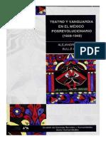 Teatro y Vanguardia en El Mexico Posrevolucionario