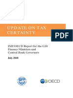 Tax Certainty Update Oecd Imf Report g20 Finance Ministers July 2018