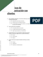 Atención Básica Al Cliente Cuaderno de Ejercicios ---- (EJERCICIOS de AUTOEVALUACIÓN)