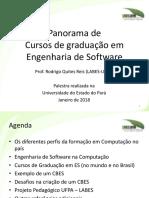 Panorama Cursos de Graduação em Engenharia de Software no país (2018)