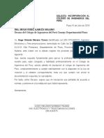 Solicitud-De-Inscripcion Colegio de Ingenieros Del Peru-2018