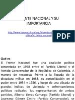 Frente Nacional y Su Importancia