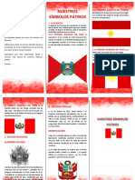 Triptico La Bandera Del Perú