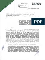 Observaciones a las Modificaciones del Estudio de Impacto Ambiental del Puerto de Paracas.