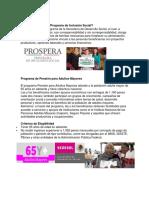 Qué Es PROSPERA Programa de Inclusión Social