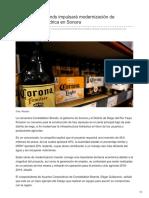 14-08-2018- Constellation Brands impulsará modernización de infraestructura hídrica en Sonora- economia hoy