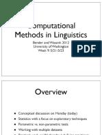 Computational Methods in Linguistics