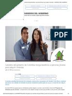 Subsidios Del Gobierno de Colombia