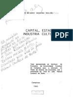 CAPITAL, INDUSTRIA ESTADO, CULTURAL