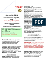 Moraga Rotary Newsletter for Aug 14 2018