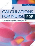 Drug Calculations for Nurses a Step by Step Approach