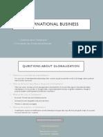 International Business and Globalization
