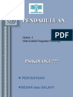Handout Pengantar Psikologi 1