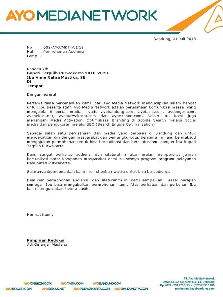 Surat Audiensi Purwakarta