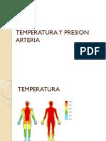 Temperatura y Presion Arteria