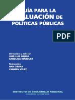 Instituto de Desarrollo Regional - Guía Para La Evaluación de Políticas Públicas