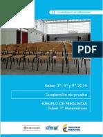 Ejemplos de Preguntas Saber 3 Matematicas 2015