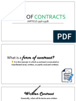 Form of Contracts Article 1356 1358 1 (2)