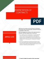 Interpretation of Contracts-1